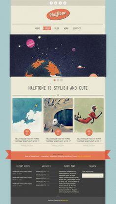 Halftone – Free PSD Template