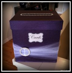 Custom made wedding card box.  Visit my Facebook page to send me a message or inquire about pricing.  facebook.com/partyonpueblo