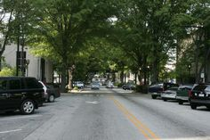 "They don't call it ""Greenville"" for nothing! Main Street is lined with trees for natural shade."