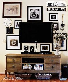 after: tv gallery wall
