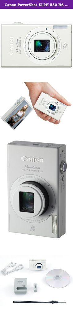 Canon PowerShot ELPH 530 HS 10.1 MP Wi-Fi Enabled CMOS Digital Camera with 12x Optical Image Stabilized Zoom 28mm Wide-Angle Lens with 1080p Full HD Video and 3.2-Inch Touch Panel LCD (White) (Discontinued by Manufacturer). The Canon 6163B100 PowerShot ELPH 530 HS 10.1MP Compact Digital Camera, in white, is a beautifully sleek, state-of-the-art camera that is ready for the way you live now. Built-in Wi-Fi lets you share images and beautiful 1080p Full HD videos virtually anywhere, while…