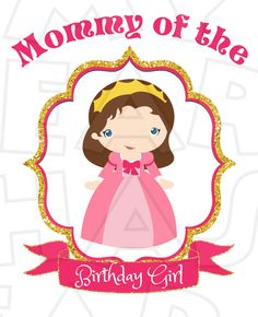 Cute Sofia the First Mommy of the birthday girl INSTANT DOWNLOAD digital clip art :: My Heart Has Ears