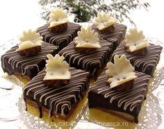 Prajitura Fantezie Dessert Drinks, Dessert Recipes, Romanian Food, Romanian Recipes, Greek Recipes, Mini Cupcakes, I Foods, Cheesecake, Deserts