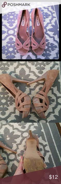 Steve Madden heels Used Steve Madden heels. In used condition. A few imperfections as pictured. Steve Madden Shoes Heels