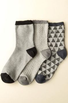 Buy Three Pack Mono Textured Ankle Socks from the Next UK online shop