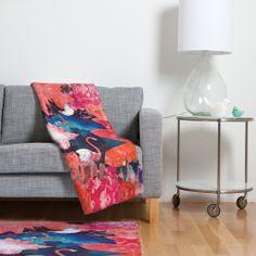 Kangarui Crystal Flamingo Fleece Throw Blanket | DENY Designs Home Accessories #blanket #flamingo #cave #crystal