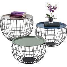 Couchtisch La Costa Wire (3/Set) - Wohnzimmer - KARE Design