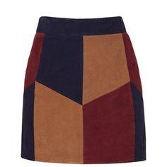 Rental LAMARQUE Retro Suede Patchwork Skirt