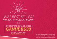 Vinhos na Empório - Desconto de R$ 30 em compras acima de R$ 100