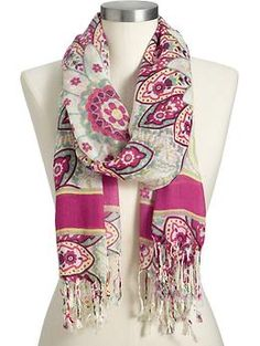 Women's Lightweight Paisley-Print Scarves | Old Navy