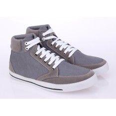 Sepatu Sneakers Kets Pria Raindoz Rap 009 Abu Abu Kanvas