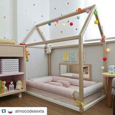 Considering the Montessori approach for your child? Check out our Montessori Baby Room collection and get inspired! Baby Bedroom, Girls Bedroom, Master Bedroom, Room Baby, Bedroom Wall, Bedroom Decor, Toddler Floor Bed, Toddler Rooms, Floor Beds For Toddlers