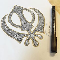 "3,623 Likes, 34 Comments - sikhexpo.com (@sikhexpo) on Instagram: ""wow, check out this beautiful Sikh #khanda design by @avi_ks """