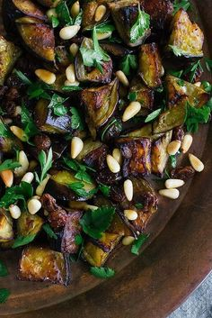 Eggplant Salad With Parsley, Raisins, and Pine Nuts