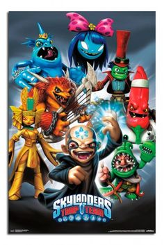 Skylanders Trap Team Baddies Poster