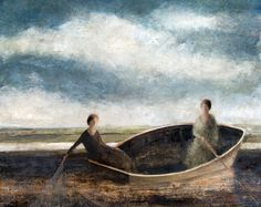 'Casting Nets' by David Brayne (pigment and watercolour)