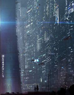 Sci-Fi futuristic city metropolis