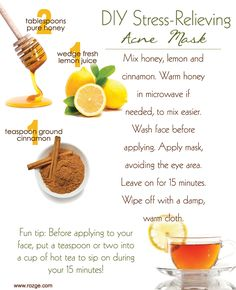 So now that taxes are done being filed, take some time for a little R&R with this DIY acne face mask!