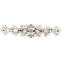 Dolce & Gabbana Crystal-Embellished Hair Clip ($650) ❤ liked on Polyvore featuring accessories, hair accessories, white, silver hair accessories, white hair clips, barrette hair clips, hair clip accessories and silver hair clips