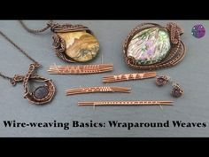 Start with two 20 gauge pieces of 8 inch dead soft, round, copper wire(feel free to use other metals, copper is just what I use in this video) Use 28 gauge r. Wire Wrapped Pendant, Wire Wrapped Jewelry, Metal Jewelry, Beaded Jewelry, Handmade Jewelry, Vintage Jewelry, Jewellery, Unique Jewelry, Bijoux Wire Wrap