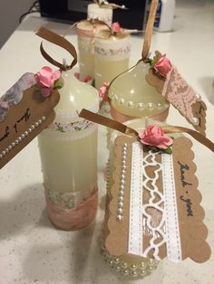 DIY Gift tag ideas for Baptism candle favors