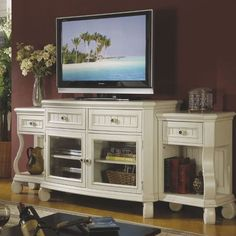 Entertainment center...and i love the two end tables on the side...can't wait for taxes