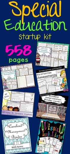 Special Education assessments, Special education binder, special education IEP resources and Intervention resources.  Over 1000 pages.  This is so great!  Every special educator should have this at their fingertips.