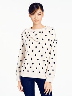 deco dot bow sweatshirt, love it~!