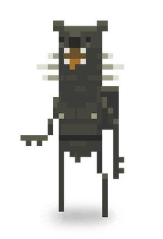 The Grizzled Boor, Superbrothers: Sword & Sworcery EP game - Pixel art.