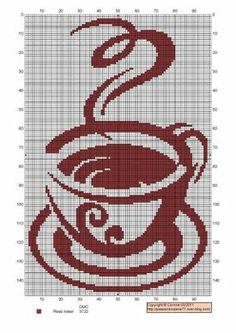 ♥ cross stitch archive ♥: SMOKING HOT COFFEE PATTERN TO YOU ON VALBORSMÄSSOAFTON-cross-stitch
