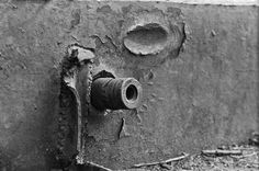 German artillery shell embedded in the armor of a Soviet KV-1 tank Probably the shell came from an early model Panzer IV - as main armament the vehicle mounted the Kampfwagenkanone 37 L/24 (KwK 37 L/24) 75 mm (2.95 in) tank gun which was a low-velocity gun mainly designed to fire high-explosive shells. Against armored targets firing the Panzergranate (armor-piercing shell) at 430 meters per second (1410 ft/s) the KwK 37 could penetrate 43 millimeters (1.69 in) inclined at 30 degrees at…
