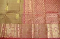 Golden Rose Pure Kanchipuram Silk Saree | Temple Of Kanchi Sarees, Temple Jewellery, Pure Silk, Kanchipuram