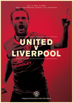 Match poster. Manchester United v Liverpool, 12 September 2015. Designed by @manutd