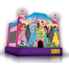 where to find a princess jumping castle?  www.fiesta4kids.com  carries many designs for the little princess at home.