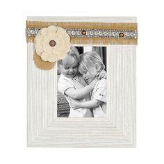 White Distressed Sadie Picture Frame, 5x7