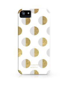 Julia Kostreva Half Moon Polka Dot White iPhone 5s/5/c/4S/4 Case