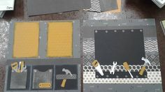 Stampin' Up! Scrapbook Page - Nailed It