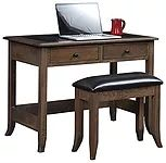 Bunker Hill Writing Desk|Oak in Asbury OCS117|42 1/2in W x 24in D x 30 1/2in H|The Amish Home|Amish Furniture at the Pittsburgh Mills