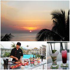 Sunset from the Sky Bar at Le Meridien Bali Jimbaran