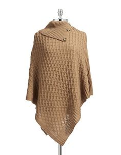 LORD AND TAYLOR Poncho with Buttons   Hudson's Bay #0006-61064
