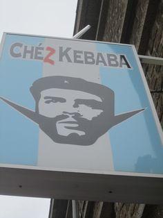 Brilliant kebab shop sign in Vire, Normandy