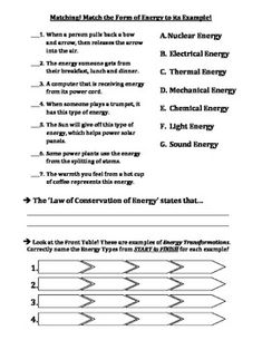 Printables Energy Transformation Worksheet energy transformations worksheet transformation and test forms of transformations