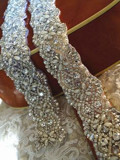 Wedding Rhinestone Pearl Applique,Rhinetones Trim For Dress Sash,Bridal Applique