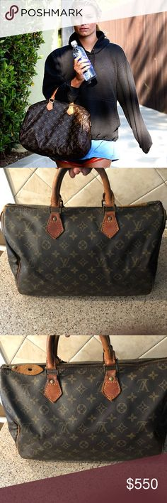 Louis Vuitton Speedy 35- vintage authentic Louis Vuitton Speedy 35- vintage authentic - normal wear for a vintage bag. - see pics - ink stains in the inside - I have removed a good amount but as seen in pics there is some remaining - price reflects Louis Vuitton Bags Satchels