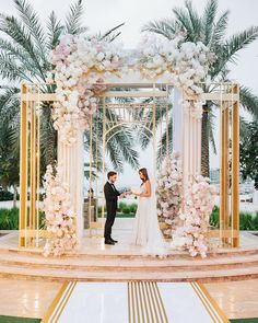 Wedding - Elegant and sweet wedding in Dubai which took place one month ago Nobody could expect a pouring rain in one hour after the ceremony but we… Dubai Wedding Dress, Making A Wedding Dress, Wedding Backdrop Design, Wedding Stage Decorations, Luxury Wedding Decor, Wedding Designs, Wedding Ceremony, Marie, Backdrops