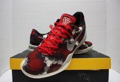 huge discount d1951 6d4cc Nike Kobe VIII 8 System Milk Snake Size 9 - Red Black White Grey - 555035  601 for sale online   eBay