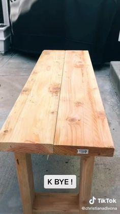 Diy Wood Projects, Furniture Projects, Diy Furniture, Homemade Bench, Crate Bench, Diy Bench Seat, Diy Bank, Diy Esstisch, Diy Terrasse