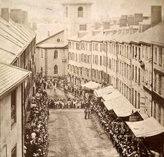 Celebration on Brattle Street, Boston, Mass, circa 1860s