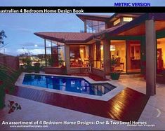 House Design Book Small and Tiny Australian and International Home Plans - house plans, house plans australia, small house plans,tiny plans - Judy Simonsson 4 Bedroom House Designs, 5 Bedroom House Plans, Duplex House Plans, Design Bedroom, Contemporary House Plans, Modern House Plans, Small House Plans, Farmhouse Floor Plans, Country House Plans