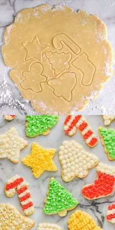 christmas cookies videos Weihnachtspltzchen Everyone who tries this recipe LOVES it! Christmas Biscuits, Christmas Sugar Cookies, Christmas Snacks, Christmas Chocolate, Noel Christmas, Holiday Cookies, Holiday Desserts, Christmas Candy, Christmas Baking